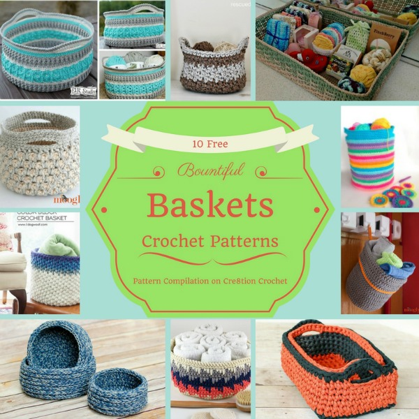 Crochet your very own basket to decorate your home, hold your beautiful yarn, or even little knickknacks around the home.