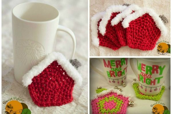 Candy House Coaster Free Crochet Pattern