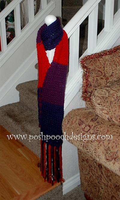 Color Block Chunky Scarf