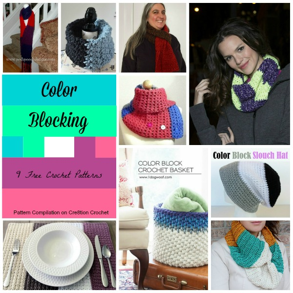 Color Block Free Crochet Patterns - Cre8tion Crochet