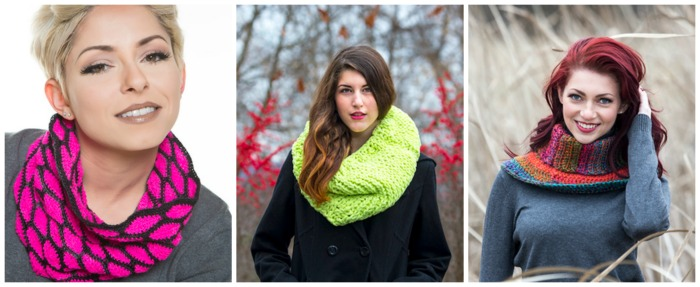 My 3 favorite designs from Crochet Cowls by Sharon Silverman. Enter to win a free copy of this new book.