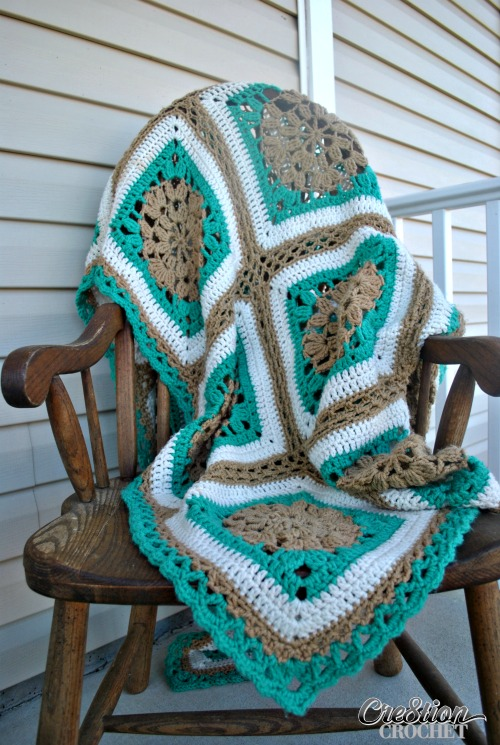 Sand And Surf Throw Free Crochet Afghan Pattern Cre8tion Crochet