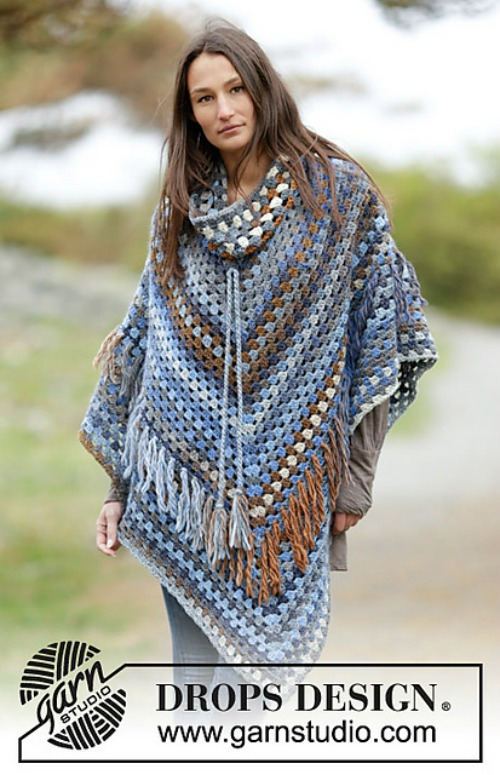 Cowl Neck Poncho Pattern Collection Cre8tion Crochet