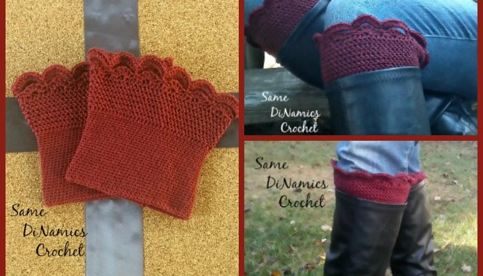 Arched Fans Boot Cuff Free Crochet Pattern