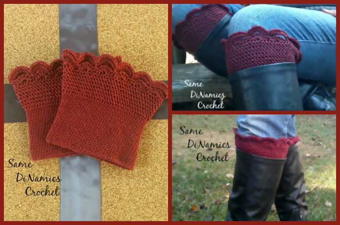 The Arched Fans Boot Cuffs are comfortable to wear over jeans or legging, and are thin enough for comfort.