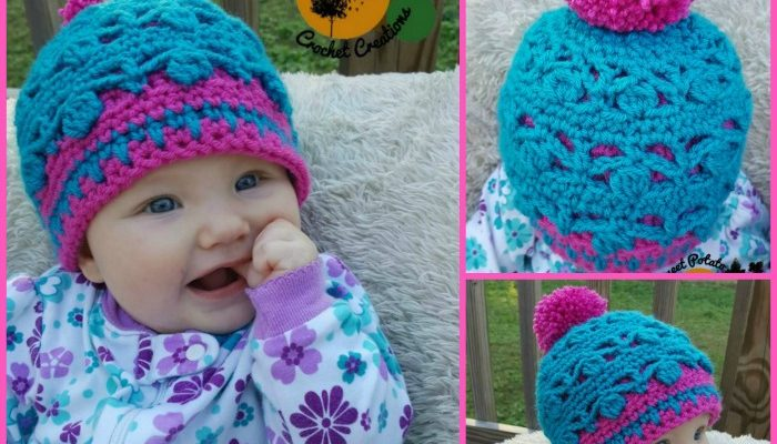 Dancing Aspen Beanie Free Crochet Pattern