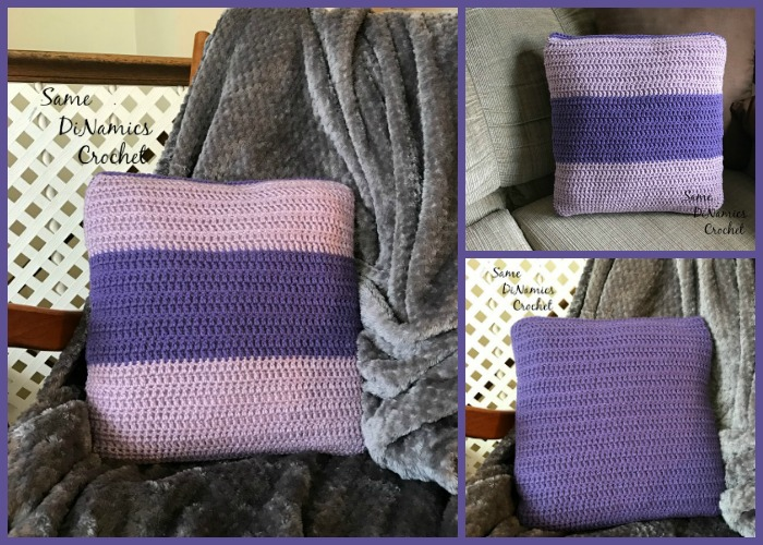 Crocheting your very own pillow cover can be a freeing exercise for the interior decorator in you. You can use color blocking to play with different colors that either are contrasting or complimenting.