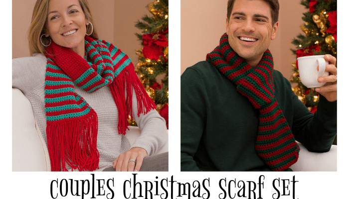 Couples Christmas Scarf