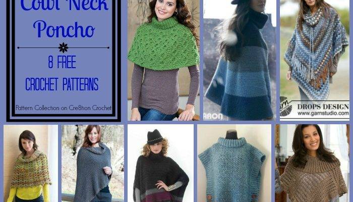 Cowl Neck Poncho Pattern Collection