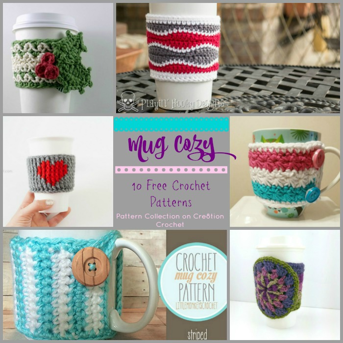 Work on these cute mug or cup cozies and have a really fun and functional gift for someone or for yourself.