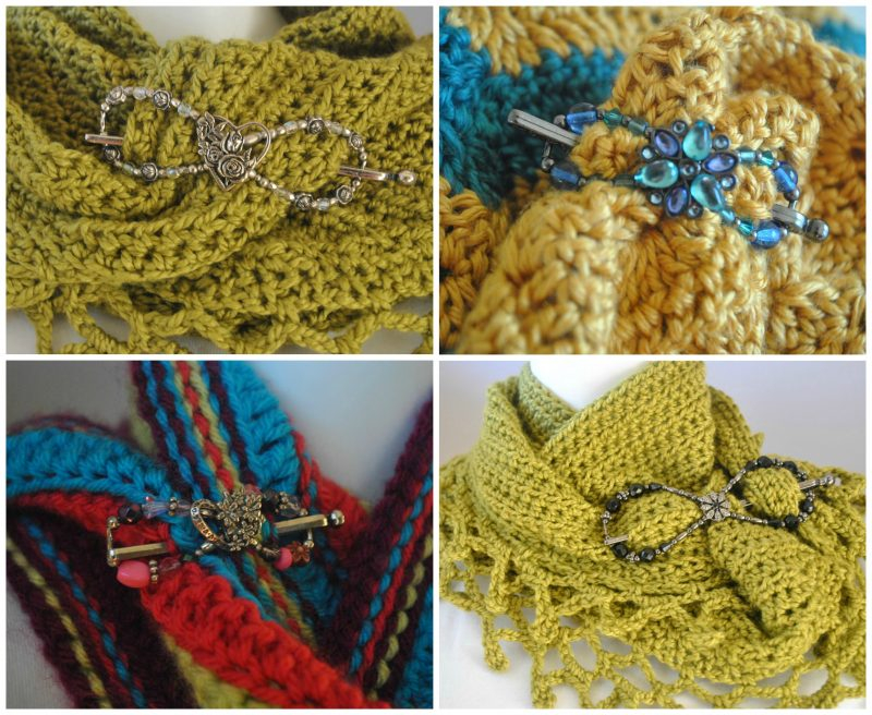 How to use a Lilla Rose Flexi clip to wear on your favorite crochet shawls, wraps and scarfs.