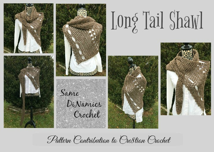 This Long Tail Shawl will keep you warm and stylish while offering you a variety of ways in style.