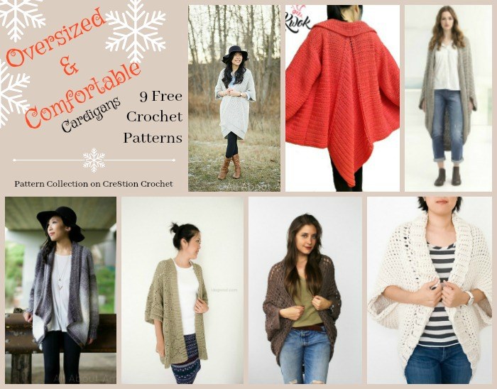 Oversized Comfortable Cardigans Pattern Collection Cre8tion Crochet