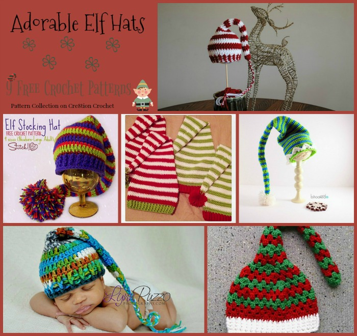 Adorable Elf Hats Pattern Collection Cre8tion Crochet