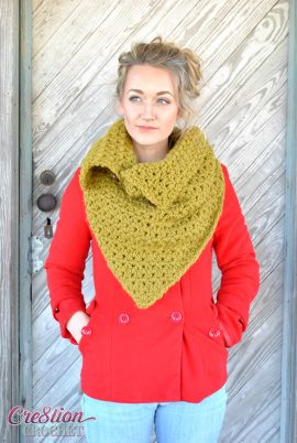 Blustery Day Cowl- a free convertible crochet cowl pattern