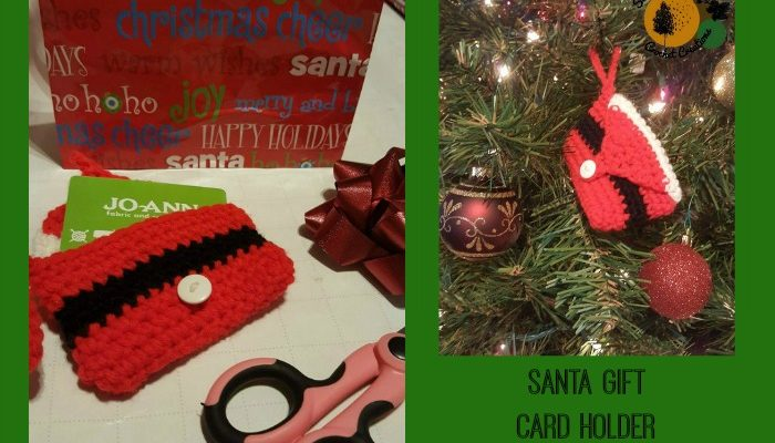 Santa Gift Card Holder Free Crochet Pattern