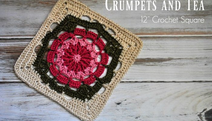 Crumpets and Tea 12″ Crochet Square