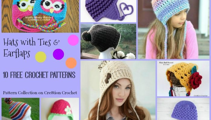 Hats with Ties & Earflaps Pattern Compilation