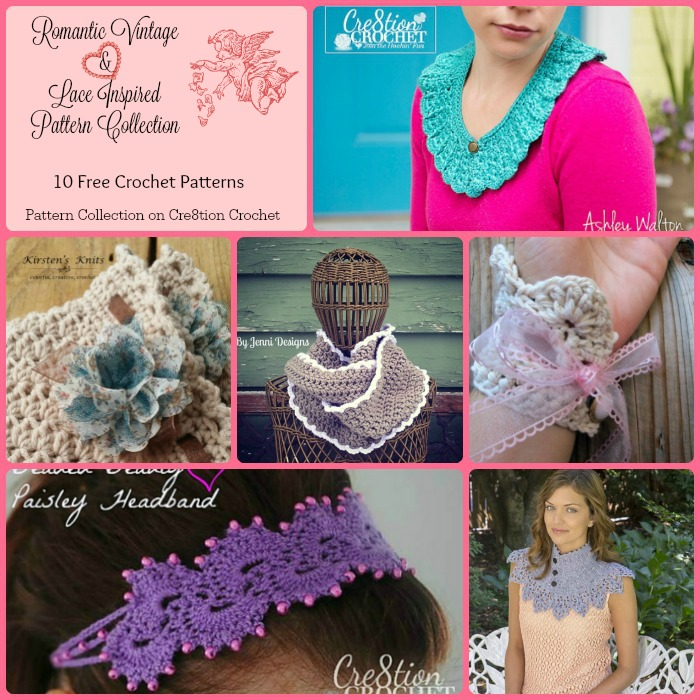 Romantic vintage lace inspired pattern collection cre8tion crochet vintage crochet collar by cre8tion crochet dt1010fo
