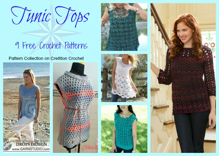 Tunic Tops Pattern Collection - Cre8tion Crochet