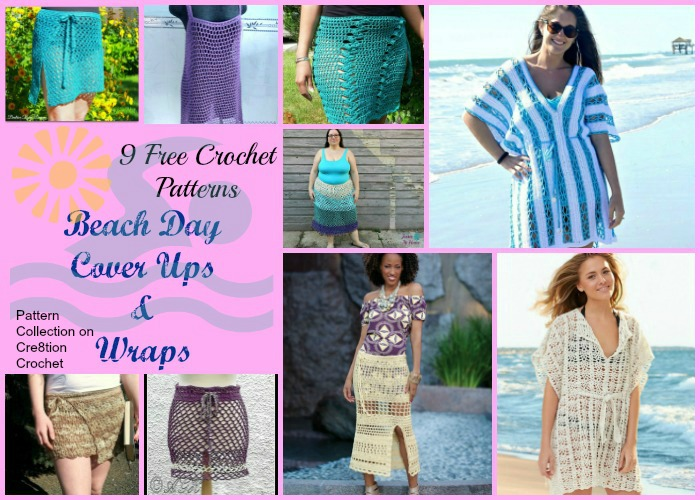 Beach Day Cover Ups Pattern Collection Cre8tion Crochet