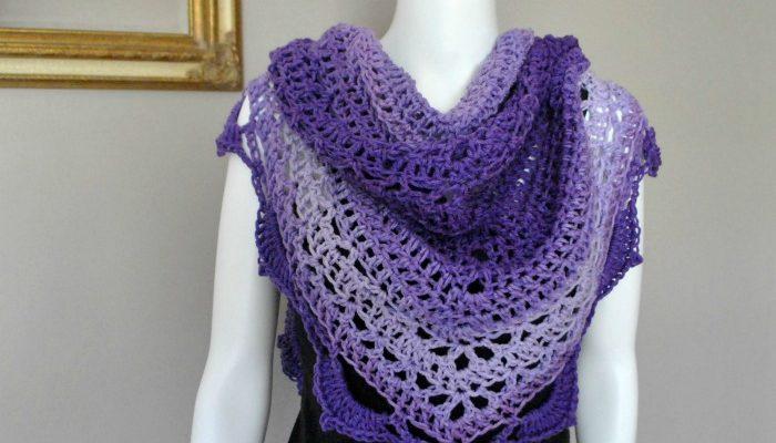 Reign Shawl free crochet shawl pattern