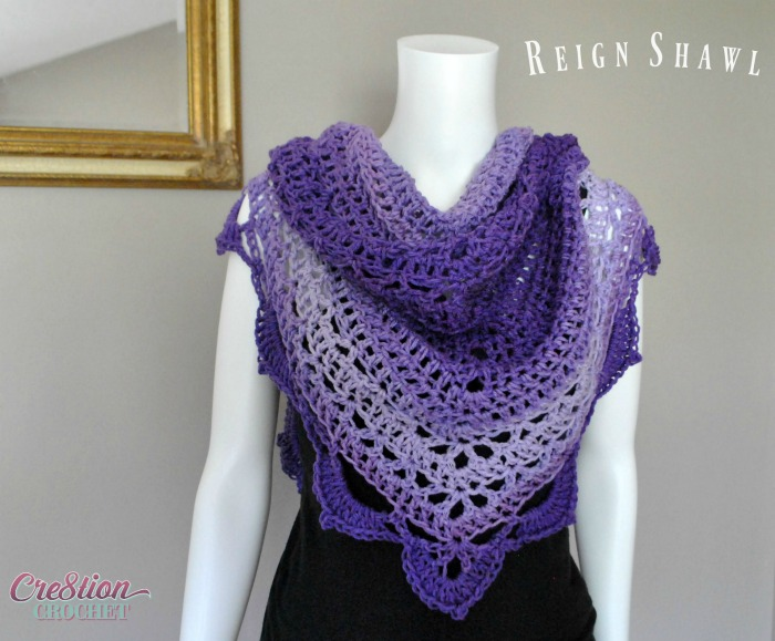 Reign Shawl Free Crochet Shawl Pattern Cre8tion Crochet