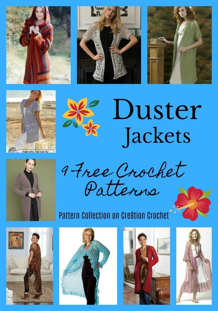 Duster Jacket Pattern Collection Cre8tion Crochet