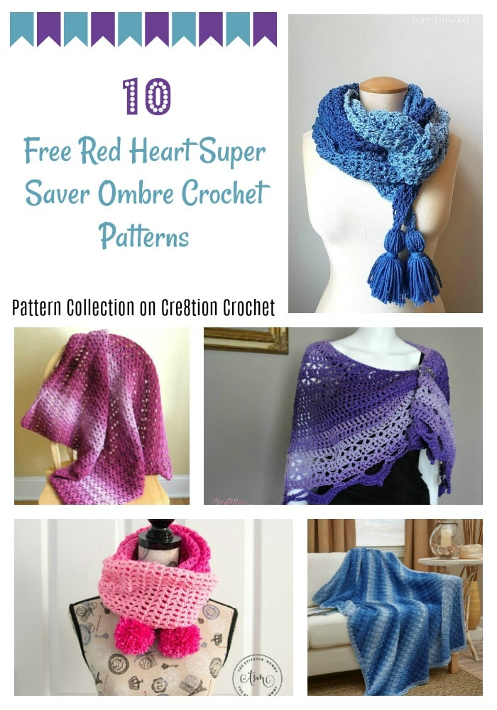 Red Heart Super Saver Ombre Pattern Collection Cre8tion Crochet