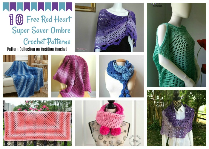 These Red Heart Super Saver Ombre patterns will help you decide what lovely projects to make next.