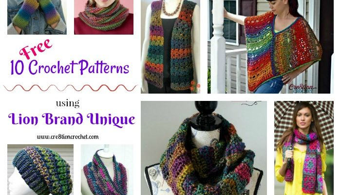 Pattern Collection using Lion Brand Unique Yarn
