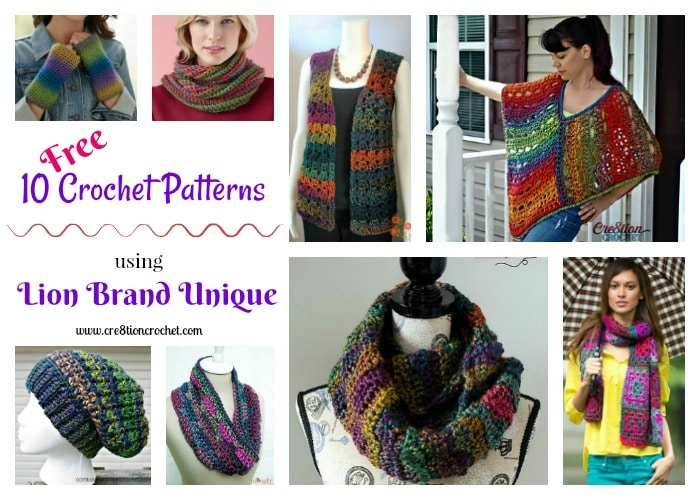 Pattern Collection Using Lion Brand Unique Yarn Cre8tion Crochet