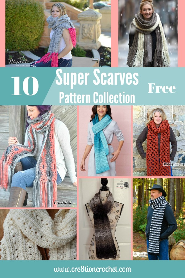 Super Scarves Pattern Collection - Cre8tion Crochet