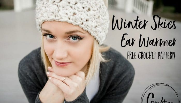 Winter Skies free ear warmer crochet pattern
