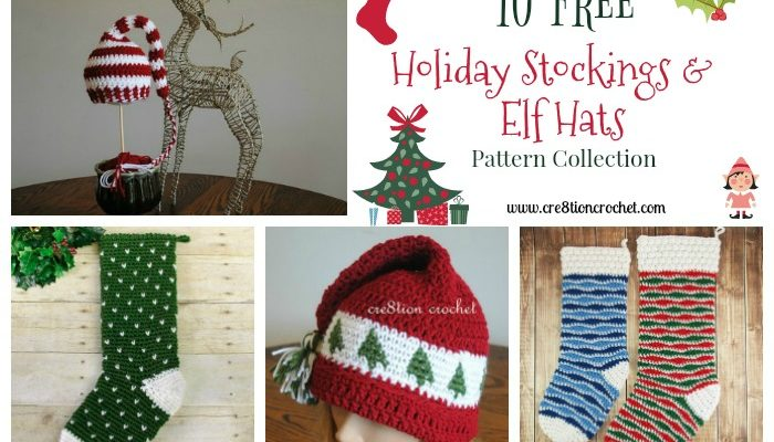 Holiday Stockings and Elf Hat Pattern Collection