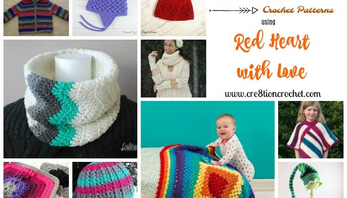 Red Heart with Love Pattern Collection