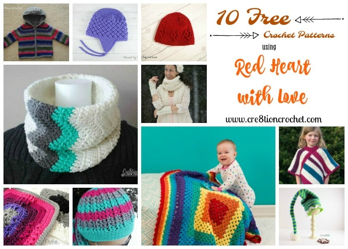 Red Heart With Love Pattern Collection Cre8tion Crochet