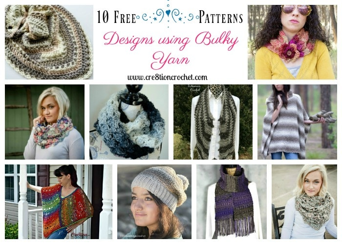 Find your favorite bulky cowl or poncho design with these Designs using Bulky Yarn pattern collection.
