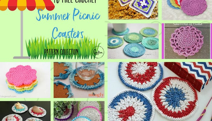 Summer Picnic Coasters Pattern Collection