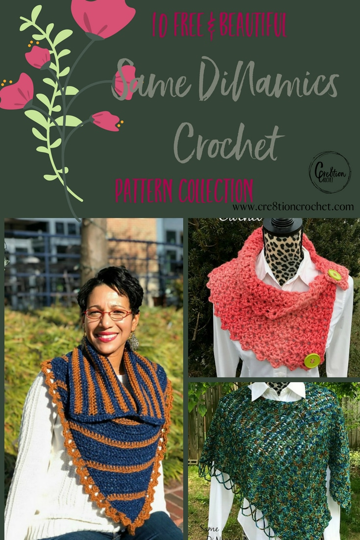 Find your next stylish and trendy design with this pattern collection that includes Same DiNamics Crochet's designs.