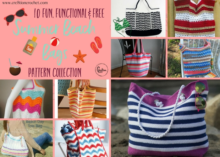 Summer Beach Bag Pattern Collection Cre8tion Crochet