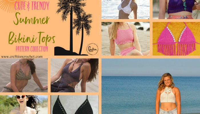Summer Bikini Tops Pattern Collection