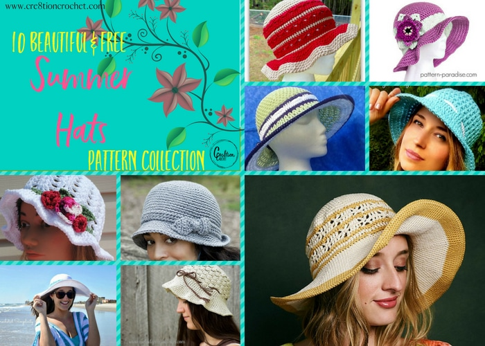 Summer Hats Pattern Collection - Cre8tion Crochet e5fc6908db60