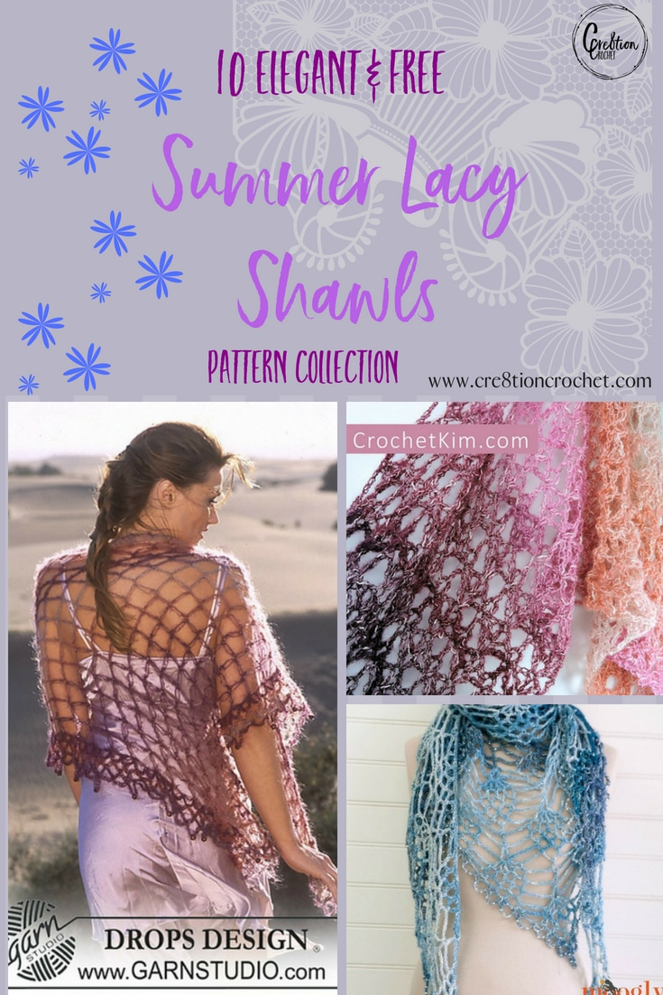 These Summer Lacy Shawls are the perfect late summer evening accessory to keep the summer breeze at bay.