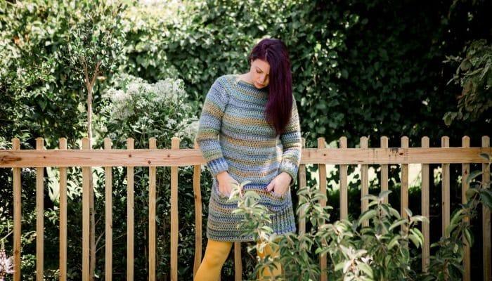 Free Crochet Sweater Dress Pattern