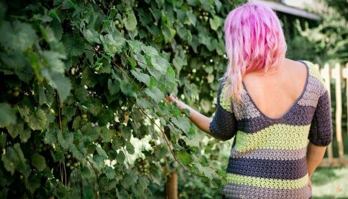Laney V Back Crochet Sweater Pattern