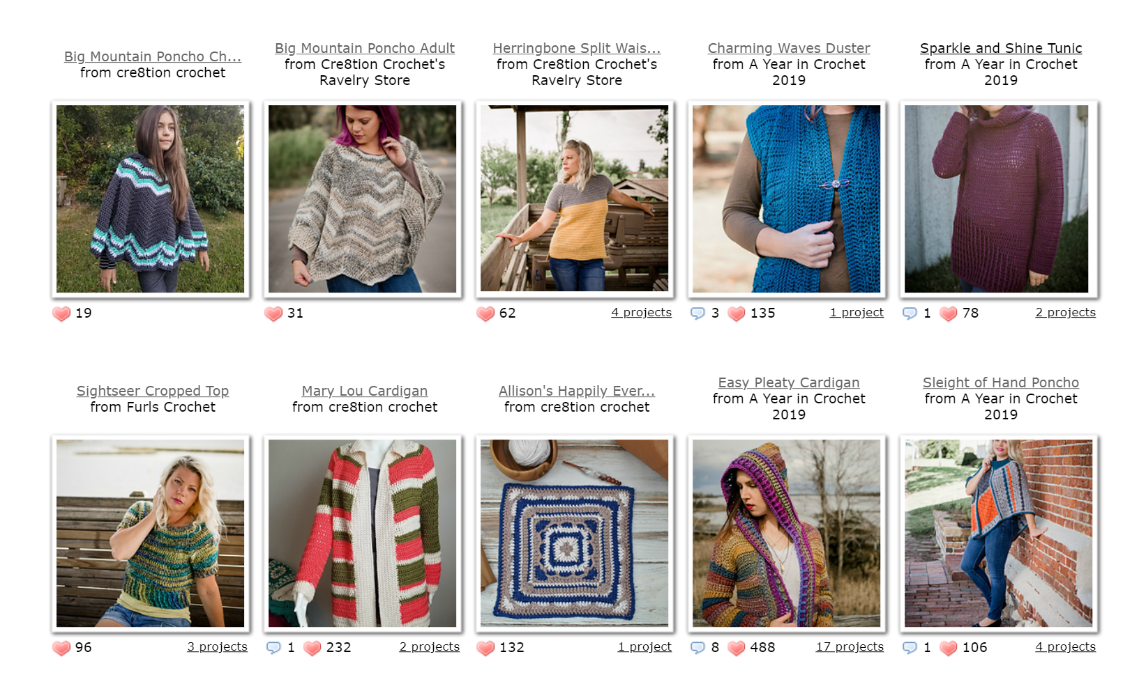 Recently published original designs by Cre8tion Crochet on Ravelry