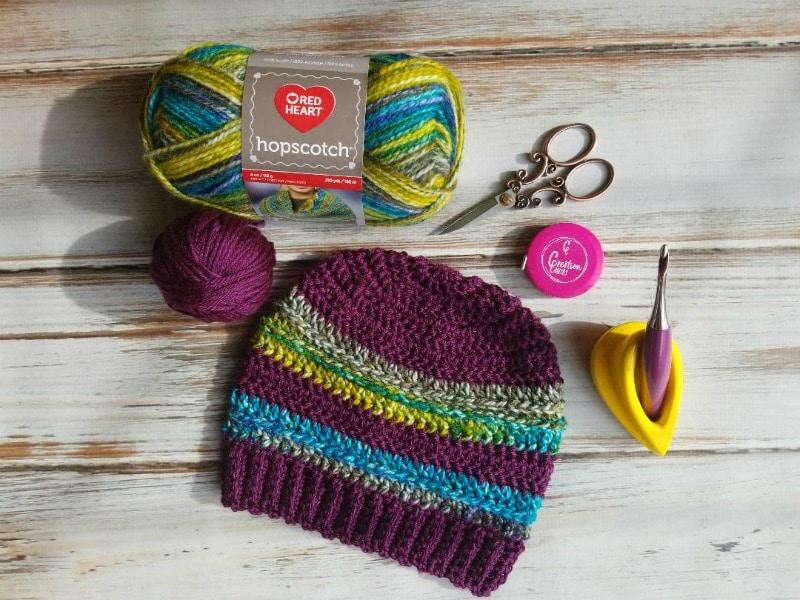 Two Toned Unisex Crochet Hat- Galactica Beanie